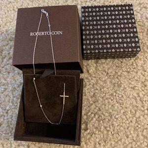 Roberto Coin Diamond Cross Necklace